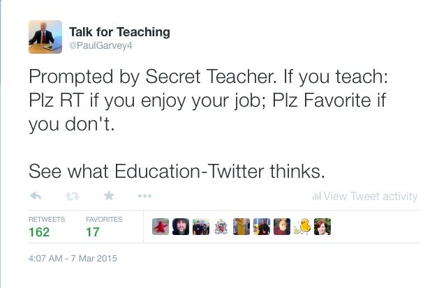 Do teachers enjoy their job?